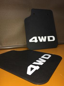 商品名マッドガードクラシック 4WD浮出しロゴ ホワイトレター
