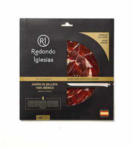 Fresh pack Redondo 6. Handgesneden Jamón Ibérico de Bellota 100%. Pata Negra. 48 mnd. 70 gram.