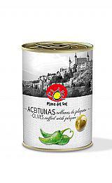 Aceitunas verdes con Jalapeno. 120 gram.