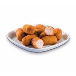 Croqueta de Gambas y Merluza. 30 gram per stuk. 33 stuks in een zak.