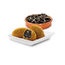 Croqueta Chipirones. 30 gram per stuk. 33 stuks in een zak.
