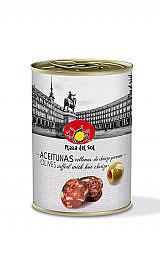 Aceitunas verdes con Chorizo Pikant. 120 gram.