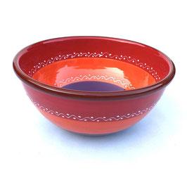 Handgemaakt Spaans Tapas schaaltje paars/rood van Bowls and Dishes. Doorsnede 10 cm.