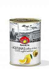 Aceitunas verdes con Limón. 120 gram.