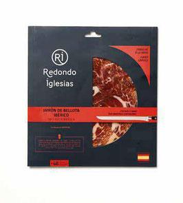 Fresh pack Redondo 5. Handgesneden Jamón Ibérico de Bellota 50%. 48 mnd. Pata Negra. 70 gram.