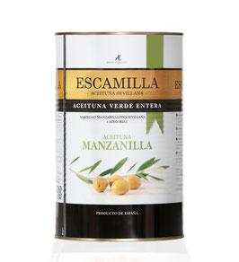 Aceitunas verdes con hueso, manzanilla anchoa. 4,35 liter.