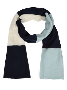 "100% Cashmere Schal ""Color Block"" blau"