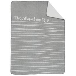 kuschelige Decke - Das leben ist eine Reise