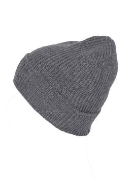 Mütze 100 % Kaschmir - grau