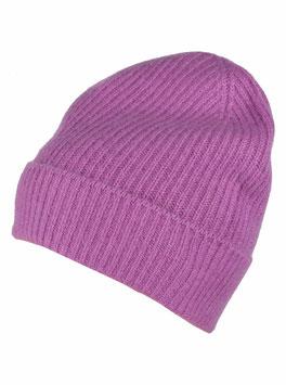Mütze 100 % Kaschmir - lila