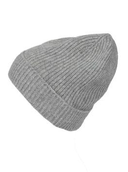 Mütze 100 % Kaschmir - hellgrau
