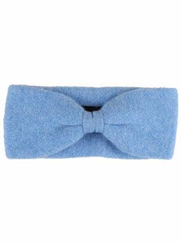 100% Cashmere Stirnband hellblau