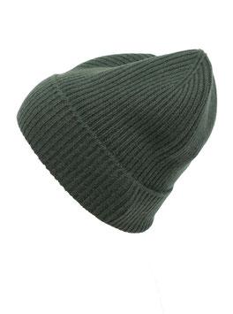 Mütze 100 % Kaschmir - grün