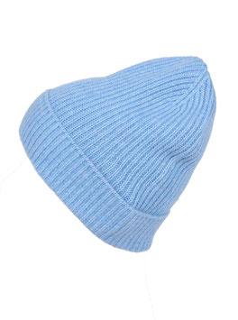 Mütze  100 % Kaschmir - hellblau