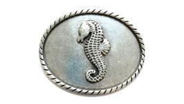 Seepferd oval altsilber