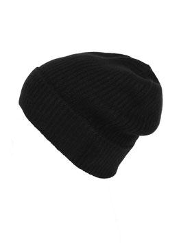 Mütze 100 % Kaschmir - schwarz
