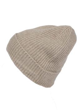 Mütze 100 % Kaschmir - beige