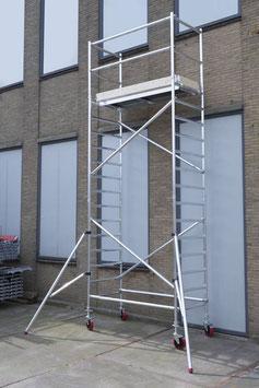 KiezGerüst KG 630- AS 075 schmal - Arbeitshöhe: 6,30 m - erweiterbar - STANDARD
