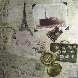 """Салфетка """"Путешествие в Париж"""""""