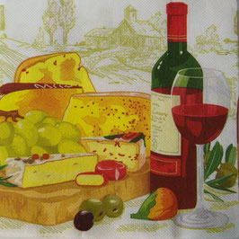 "Салфетка ""Вино и сыр"""