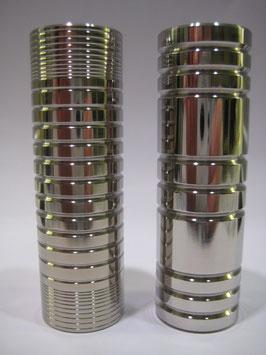 Designhülse Edelstahl oder Messing poliert (Ringmuster M0 bis M5)
