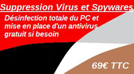 Ticket suppression virus et spywares