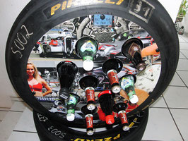 Racing Rennreifen Getränkeständer/Presenter