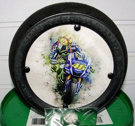 """Valentino Rossi """"Art"""" VR 46 Moto GP """"Minislick"""" Deko"""