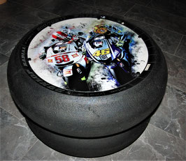 """Dream Team Super Sic VR 46 GP/SBK Racing Slick Beistelltisch """"Art""""  (aus der  GP, Superbike)  ,"""