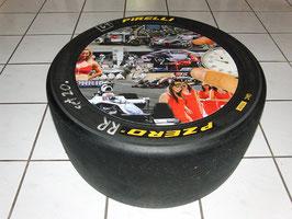 """Racing Rennreifen Deko/Beistell-Tisch """"Motiv-Motorsport - Moments """""""