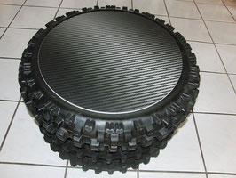 """Tisch """"Racing-Carbonoptik""""  aus MX Reifen"""