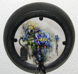 """Valentino Rossi, """"Art"""" Moto GP Schlüßel Board, Brett, Anhänger, Keyholder,"""