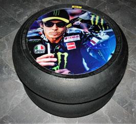 """Valentino Rossi, """"Art"""", Vorstart   Beistelltisch  (aus der  GP, Superbike)  ,"""