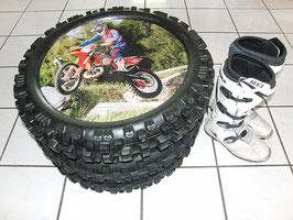 """Tisch """"KTM - Racing"""" aus MX Reifen"""