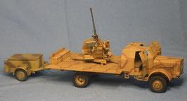 Büssing 4500 4,5t gepanzert mit 3,7cm Flak 37 und Munitionsanhänger auf Sd.Ah. 52