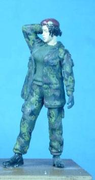 Soldatin im Parka