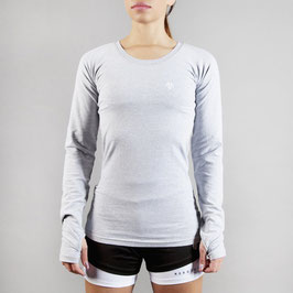 PREMIUM Basic Logo Longsleeve Light Grey