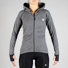 NAKA Comfy Performance Full Zip Hoodie Grey