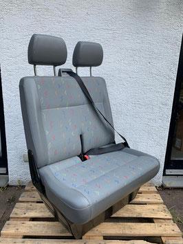 VW T5 Beifahrer-Doppelsitzbank INKA Dunkelgrau
