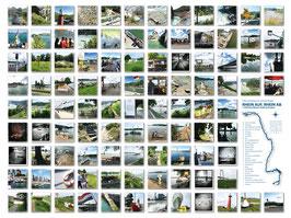 """Fotokomposition """"Rhein auf, Rhein ab"""" 100, 120x150 cm auf AluDibond mit Acrylglas"""