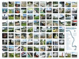 """Fotokomposition """"Rhein auf, Rhein ab"""" 100, 120x150 cm, gedruckt auf Leinwand"""