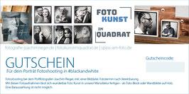 Gutschein | Dein Porträt in black & white