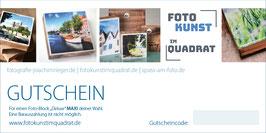 """Gutschein für einen Foto-Block """"Deluxe"""" Mini"""