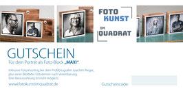 """Gutschein für dein Porträt als Foto-Block """"MAXI"""" & einer Bilddatei"""