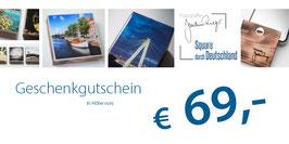 Geschenkgutschein im Wert von 69,- €