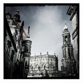 Dresden S/W im Quadrat 9