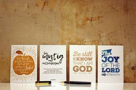 Postkarten-Set mit 4 Design-Postkarten