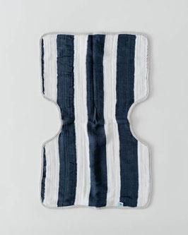 Cotton Muslin Burp Cloth  - Navy Stripe