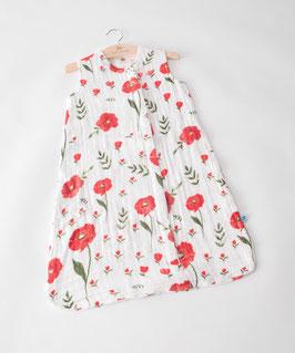 Cotton Muslin Sleeping Bag - Summer Poppy