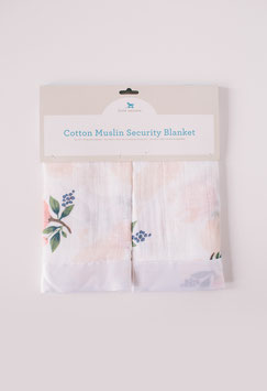 Cotton Muslin Security Blanket - Watercolor Rose